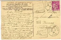 DAGUIN DE ST AYGULF DEUX EMPREINTES SUR CPA - Marcophilie (Lettres)