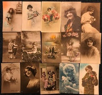 Belgique Fantaisie Femme Enfant Fleurs Taxe Censure ... : 60 Cartes (voir Zie See Scans) - Postkaarten