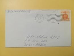 1961 BUSTA STATI UNITI UNITED STATES U.S. BOLLO LIBERTA GANDHI ANNULLO OBLITERE' BETHEL ALASKA - Storia Postale