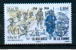 Saint Pierre & Miquelon 2016 - Bataille De La Somme, 1ere Guerre Mondiale / Somme Battle, World War I - MNH - Prima Guerra Mondiale