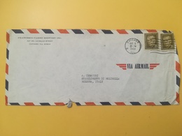 1968 BUSTA INTESTATA STATI UNITI UNITED STATES U.S. BOLLO GEORGE MARSHALL ANNULLO OBLITERE' CHICAGO - Storia Postale