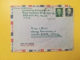 1970 BUSTA INTESTATA STATI UNITI UNITED STATES U.S. BOLLO JEFFERSON EISENHOWER ANNULLO OBLITERE' BERKELEY - Storia Postale