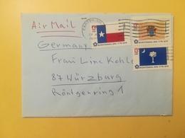1976 BUSTA STATI UNITI UNITED STATES U.S. BOLLO STAGE FLAGS BANDIERE ANNULLO OBLITERE' CANTON - Storia Postale