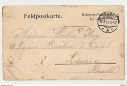 Zerbst. Camp De Prisonniers. Carte De Correspondance (A4p29) - Guerra 1914-18