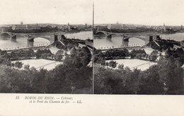 Koblenz Coblenz Le Pont De Chemin De Fer Les Bords Du Rhin Carte Stéréoscopique - Koblenz