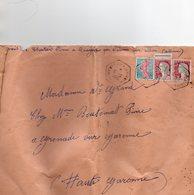"""L- Oblitération- Convoyeur Postal-Automobile- """" VARENNES Sur ALLIER- N°1- (Rongéres)-"""" - Storia Postale"""