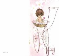 Faire-part De Naissance : Petite Fille Dans Un Landau - Double - Geburt & Taufe