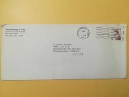 1983 BUSTA INTESTATA  STATI UNITI UNITED STATES U.S. BOLLO RALPH BUNCHE ANNULLO OBLITERE' CEDAR RAPIDS - Stati Uniti