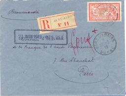 MERS LES BAINS SOMME RECOMMANDÉ TàD 22-6-19 - Afft TYPE MERSON 40 C. - 1921-1960: Moderne