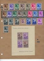 GROOT LOT SEMI - KLASSIEK Vanaf 1936 Op Albumbladen Met Ook ** MNH Aanwezig ; Zie 12 Scans ! LOT 132 - Belgium