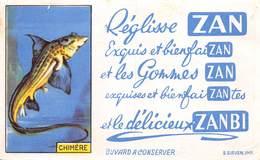 VP-GF.19-RO 055 : BUVARD. REGLISSE ZAN. CHIMERE. - Löschblätter, Heftumschläge