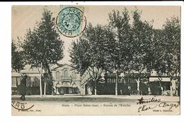 CPA-Carte Postale France-Alais- Place St Jean-Entrée De L'Archevêché En 1904 VM10002 - Alès