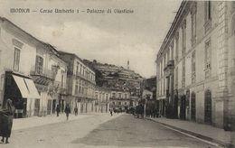 MODICA CORSO UMBERTO I PALAZZO DI GIUSTIZIA 1915 ANIMATA - Modica