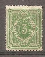DR - Yv. N° 30 MI. N° 31  (*)  3p  Vert Pfennige  Cote  7,5  Euro  D    2 Scans - Neufs