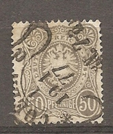 DR - Yv. N° 35 MI. N° 36  (o)  50p  Gris  Pfennige  Cote  15 Euro  BE    2 Scans - Deutschland