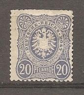 DR - Yv. N° 33 MI. N° 34  (*)  20p  Bleu Pfennige  Cote  120 Euro  D    2 Scans - Neufs