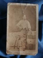 Photo CDV Pigot à Privas - Second Empire Métier, Outil,  Tonnelier Circa 1865 L217 - Anciennes (Av. 1900)