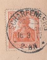 Deutsches Reich Karte Mit Tagesstempel Scharfenberg Kr Brilon 1917 KOS Stempel - Covers & Documents