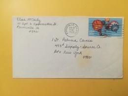 1983 BUSTA STATI UNITI UNITED STATES U.S. BOLLO BALLOONS MONGOLFIERE ANNULLO OBLITERE' FARMVILLE - Stati Uniti