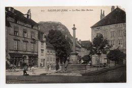 - CPA SALINS-DU-JURA (39) - La Place Max Buchon (avec Personnages) - Edition David-Mauvas 213 - - Altri Comuni
