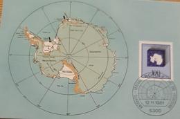 Germany BRD MC Antarktis Vertrag - Cartas Máxima