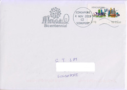 Singapore 2019  Bicentennial Slogan Postmark Skyline - Singapour (1959-...)