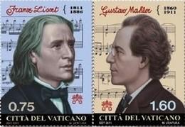 Vatican 1579/80 Franz Liszt Hongrie, Gustav Mahler Autriche - Musique