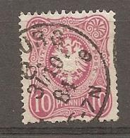 DR - Yv. N° 38 MI. N° 41  (o)  10p  Rouge  Pfennig   Cote  1,25 Euro  BE    2 Scans - Alemania