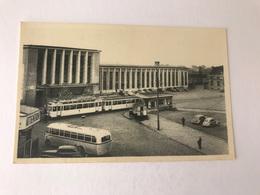 Mons La Gare Het Station   TRAM  AUTOBUS BUS - Mons