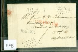 UIT 1817 POSTHISTORIE * HANDGESCHREVEN BRIEF Uit TEXEL Naar MIJDRECHT    (11.679) - Pays-Bas