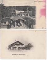 19 / 12 / 125  -CHAMP  BELLUET  BLONAY / VEVEY  &. STATION  CHARDONNE    -  2. C PA - VD Vaud