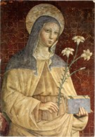 SANTA CHIARA D'ASSISI  Con Giglio E Libro - Santi