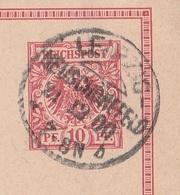 Deutsches Reich Karte Mit Tagesstempel Leipzig Neuschönefeld * B 1900 KOS Stempel - Covers & Documents