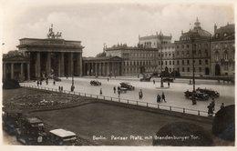 BERLIN - Pariser Platz Mit Brandenburger Tor - Non Classés