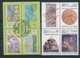 RUSSIE - 2 BLOCS OBLITERE ET NEUF** SANS CHARNIERE 1988 - 1923-1991 UdSSR