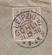 Deutsches Reich Brief Mit Tagesstempel Leipzig Gohlis * G 1910 KOS Stempel - Covers & Documents
