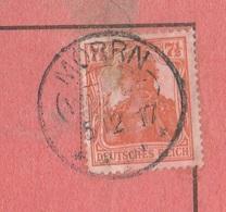 Deutsches Reich Karte Mit Tagesstempel Morrn Warthe 1917 KOS Stempel - Covers & Documents