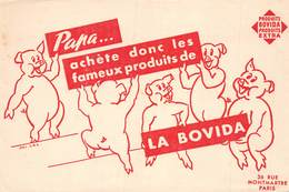 VP-GF.19-RO 87 : BUVARD. PRODUIT LA BOVIDA. COCHON. PORC. - Löschblätter, Heftumschläge