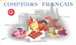 VP-GF.19-RO 88 : BUVARD. COMPTOIRS FRANCAIS.  CONFITURE VIN CAFE CHOCOLAT - Löschblätter, Heftumschläge