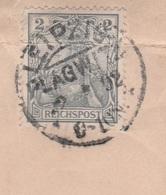 Deutsches Reich Brief Mit Tagesstempel Leipzig Plagwitz ** 1902 KOS Stempel - Covers & Documents