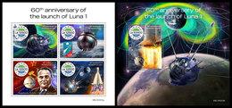 SIERRA LEONE 2019 - Luna 1. M/S + S/S Official Issue [SRL191013] - Afrika