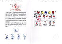 """"""" CROIX-ROUGE / J.C. DE CASTELBAJAC """" Sur Document Philatélique Officiel De 4 Pages De 2016. N°YT F5106 Parfait état DPO - Postdokumente"""