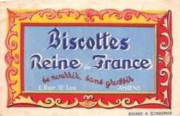 VP-GF.19-RO 94 : BUVARD. BISCOTTES REINE DE FRANCE. AMIENS. SOMME. - Löschblätter, Heftumschläge