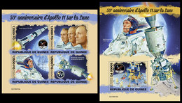 GUINEA 2019 - Apollo 11. M/S + S/S. Official Issue [GU190410] - Espace
