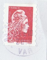 FRANCE 2019 MARIANNE L ENGAGEE TIMBRE ADHESIF ROUGE OBLITERE A DATE YT 1599 - France