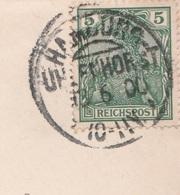 Deutsches Reich Brief Mit Tagesstempel Hamburg Uhlenhorst 1900 KOS Stempel - Covers & Documents