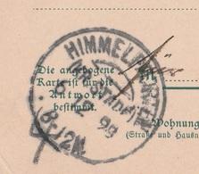 Deutsches Reich Karte Mit Tagesstempel Himmelpforten Kreis Stade 1899 KOS Stempel - Covers & Documents