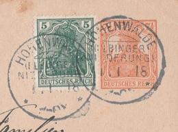 Deutsches Reich Karte Mit Tagesstempel Hohenwalde Elbinger Niederung 1918 KOS Stempel Memel Ostpreussen - Covers & Documents