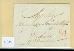 UIT 1783 POSTHISTORIE * VOORLOPER  HANDGESCHREVEN BRIEF Van DORDRECHT Naar Précurseur AALST VLAANDEREN BELGIE (11.682) - Pays-Bas