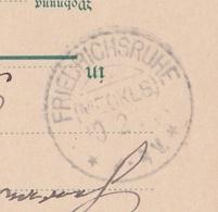 Deutsches Reich Karte Mit Tagesstempel Friedrichsruhe Mecklenburg 1902 KOS Stempel - Covers & Documents